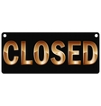 Plate closed vector image vector image