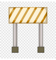 prohibitory road sign icon cartoon style vector image vector image