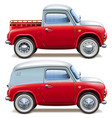 red pickup truck and minivan vector image vector image