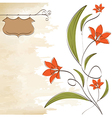 romantic flowers background vector image vector image