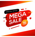 sale banner templates design vector image