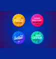 set of business badges for sale and other vector image vector image