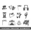 Set of elements of the theater vector image vector image
