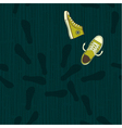 shoe path vector image vector image