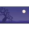Silhouette of dry tree Halloween vector image vector image