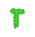 slime logo letter t vector image