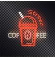 street coffee neon banner vector image vector image