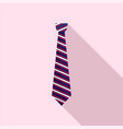 striped tie icon flat style vector image vector image
