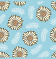 summer floral pattern with yellow flowers vector image vector image