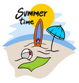 summer time message vector image