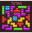 Tetris elements in flat design style vector image vector image