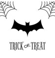 trick or treat white halloween greetings card vector image