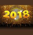 twenty eighteenth new years celebration background vector image vector image