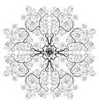 Uncolored luxury roses in zenart style mandala vector image