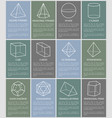 various form geometric figures vector image vector image