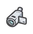 video camera equipment icon cartoon vector image