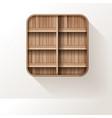 wooden shelves mock up empty shelf design on wall vector image vector image