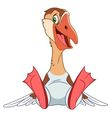 cute cartoon smiling goose vector image