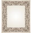 Vintage filigree frame with floral patterns vector image