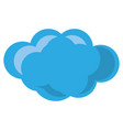 isolated big cloud vector image