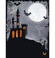 Spooky Halloween castle background vector image