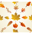 Autumn leaves seamless pattern background EPS10 vector image