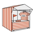 tent for trade the red stripes vector image