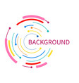 abstract background with color circle line vector image vector image
