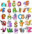 animals alphabet set on white background vector image vector image