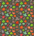 Autumn seamless pattern Fall leaves collection vector image vector image