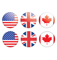 Badges with flags vector | Price: 1 Credit (USD $1)