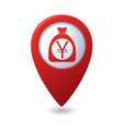 bag of money icon red pointer vector image