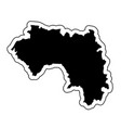 black silhouette of the country guinea with the vector image vector image