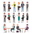 business people in office clothes characters set vector image vector image
