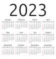 calendar 2023 sunday vector image vector image