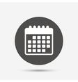 Calendar icon Event reminder symbol vector image vector image