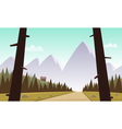 Cartoon Mountain Landscape vector image vector image