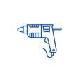 caulk gunglue gun line icon concept caulk gun vector image vector image