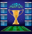 Champions Groups and Teams Template vector image vector image