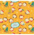 children pattern vector image