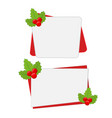 christmas banners for sale with holly vector image vector image