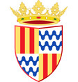 coat of arms of badalona in barcelona of spain vector image vector image