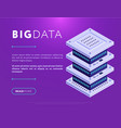 colorful design of webpage with database vector image vector image
