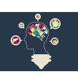 colourful brain vector image vector image