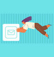 concept sending and receiving mail messages vector image