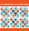 conceptual flat web icons vector image vector image