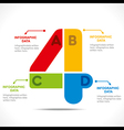 creative alphabet 4 info-graphics design concept v vector image