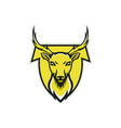 deer logo animals design wolf head vector image vector image