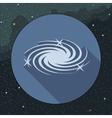 Digital milky way galaxy icon with stars vector image