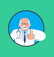 doctor winks and thumb up happy physician merry vector image vector image